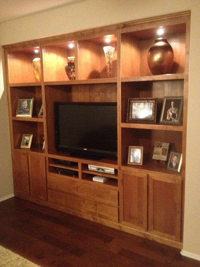 August oak woodworks temecula california entertainment for Built in wall units